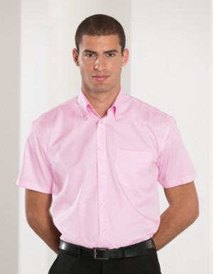 Russell Collection Bügelfreies kurzärmliges Herrenhemd