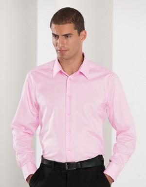 Russell Collection Bügelfreies tailliertes Hemd Langarm