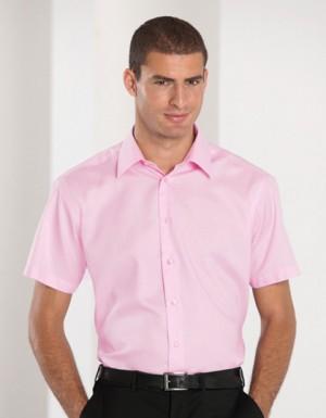 Russell Collection Bügelfreies tailliertes Hemd Kurzarm
