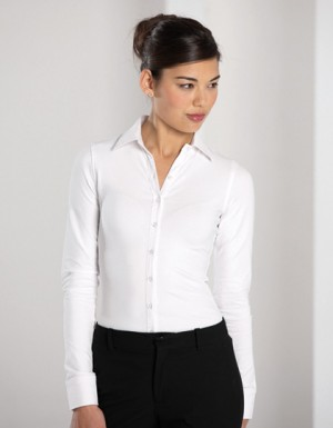 Russell Collection Long Sleeve Shirt Stretch Top