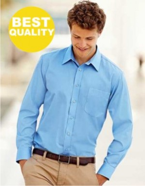 Fruit of the Loom Men´s Long Sleeve Poplin Shirt