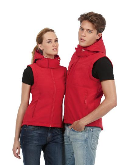 B+C Hooded Softshell Gilet / Women