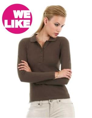 B&C Polo Safran Pure Longsleeve / Women