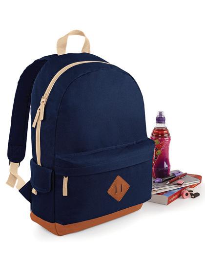 BagBase Heritage Backpack Black