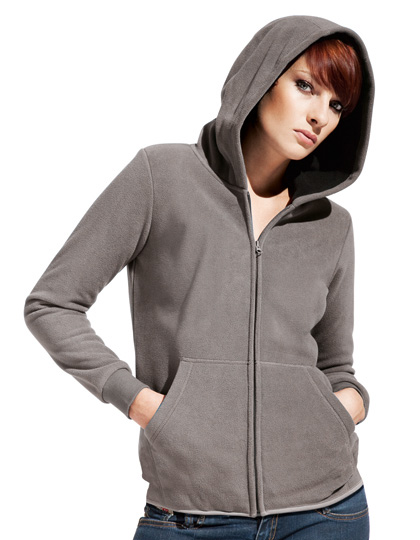 Promodoro Women´s Hooded Fleece Jacket