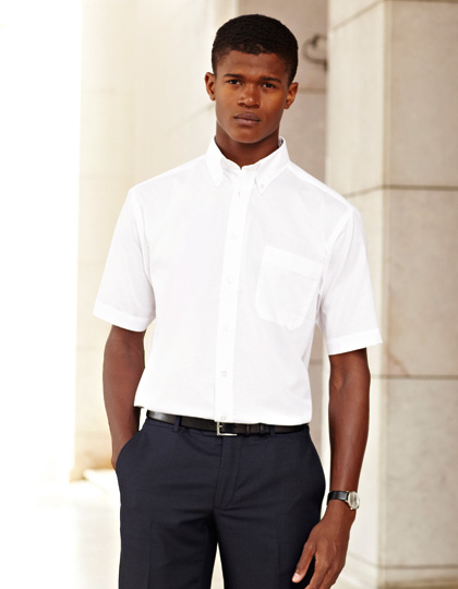 Fruit of the Loom Men´s Short Sleeve Oxford Shirt