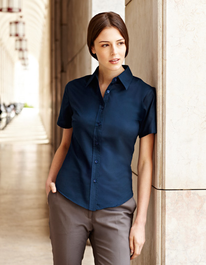 Fruit of the Loom Lady-Fit Short Sleeve Oxford Blouse