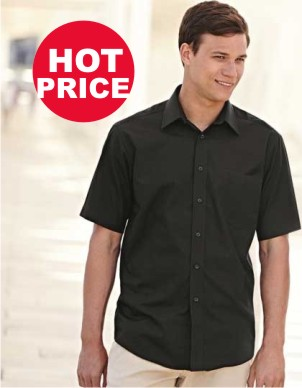 Fruit of the Loom Men´s Short Sleeve Poplin Shirt