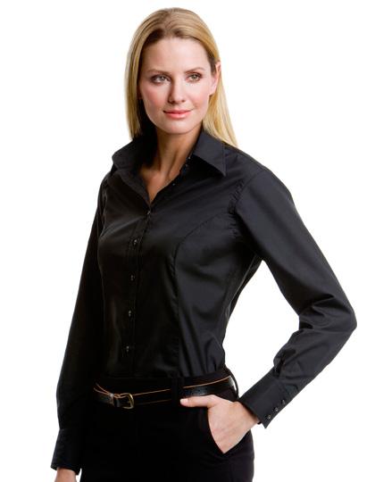 Kustom Kit Women´s Business Poplin Shirt Long Sleeve