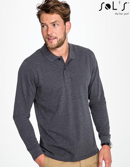 SOL´S Mens Long-Sleeve Piqué Polo Shirt Perfect