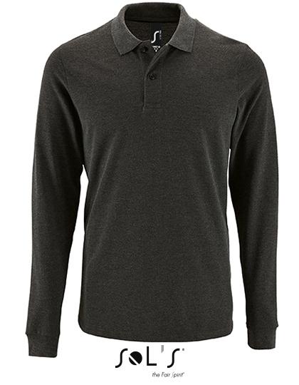 SOL´S Mens Long-Sleeve Piqué Polo Shirt Perfect Charcoal Melange S