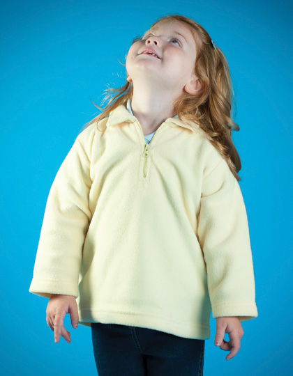 Larkwood Kids Zip-Neck Micro Fleece