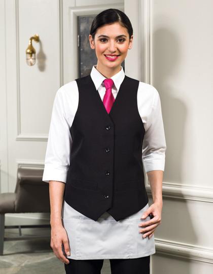 Premier Workwear Ladies Lined Polyester Waistcoat Black