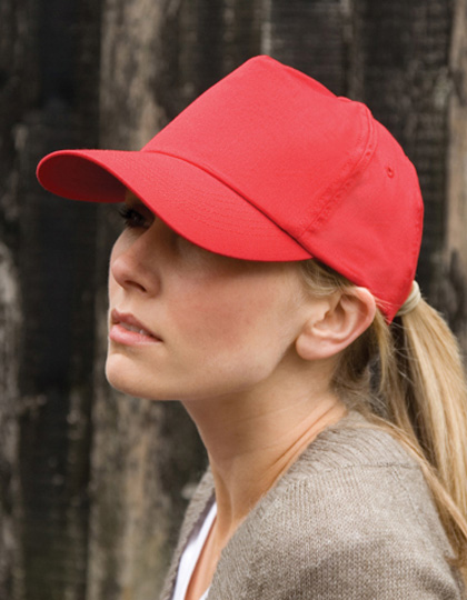 Result Headwear Cotton Cap Red