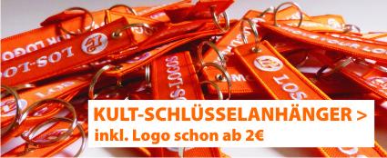 Schlüsselanhänger bestickt mit Logo