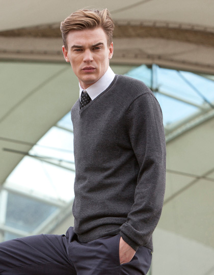 Henbury Men`s Lightweight V-Neck Jumper