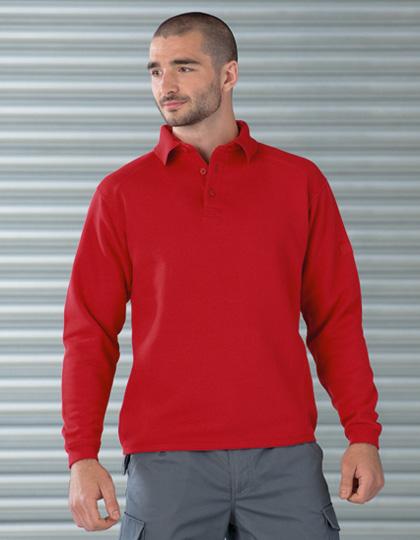 Russell Workwear-Sweatshirt mit Kragen und Knopfleiste