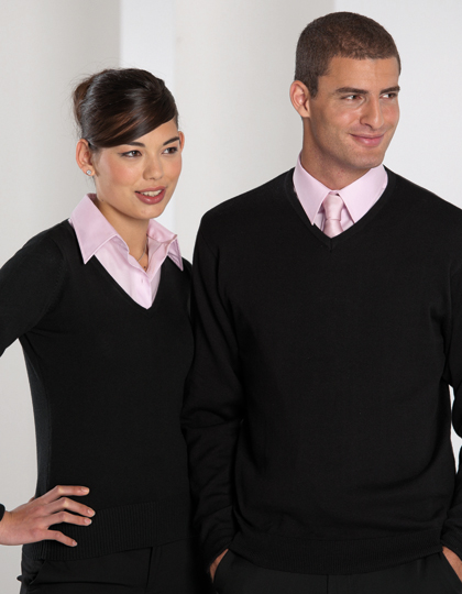 Russell Collection V-Neck Knitted Jumper