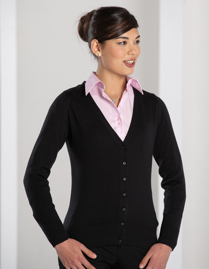 Russell Collection Ladies´ V-Neck Knitted Cardigan