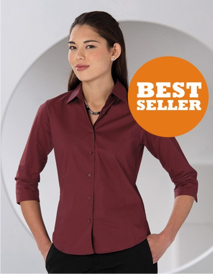 Russell Collection Ladies Stretchy Bluse 3/4-Arm